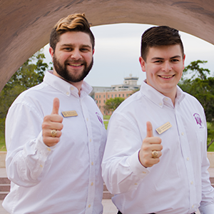 Andrew Baxter '18 and Michael Shaffer '18