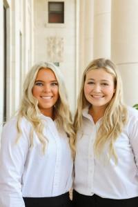 Caroline Pierce '22 and Danaleigh Stiles '23